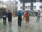 Coach & Official serius mendengarkan sambutan dari Pa Lurah Kampoeng Santri