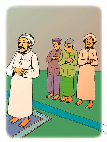 Shalat Jamaah Kartun